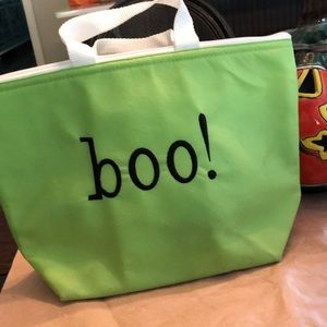 Vintage fabric boo! Trick or treat thermal bag